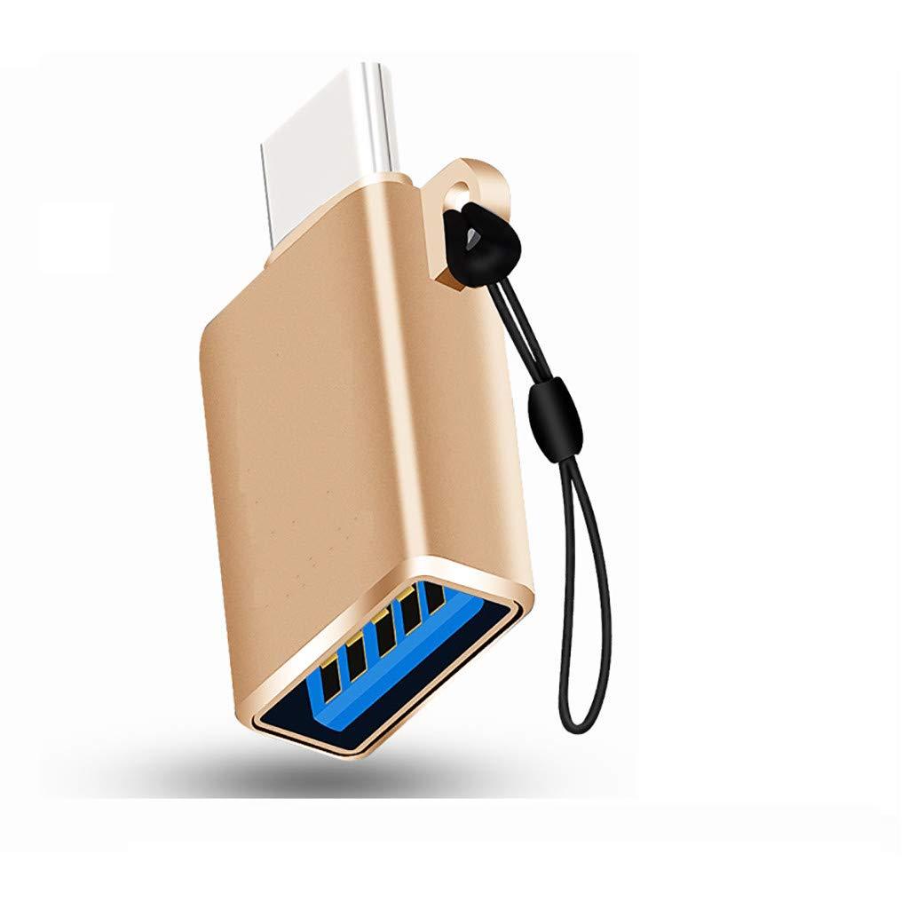 USB 3.0 Type C femelle /à m/âle adaptateur convertisseur Connecteur de p/ériph/érique externe USB-C by Fulltime gris