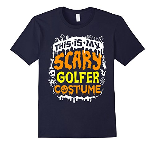 Mens This Is My Scary Golfer Costume T-Shirt - Halloween XL Navy (Golfer Costume Men)
