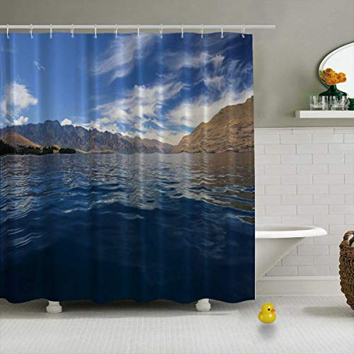 YOLIYANA Kayaking in New Zealand Shower Curtain Waterproof Polyester Fabric Shower Curtain,127492,71''Long x 71''Wide (Best Kayaking In New Zealand)