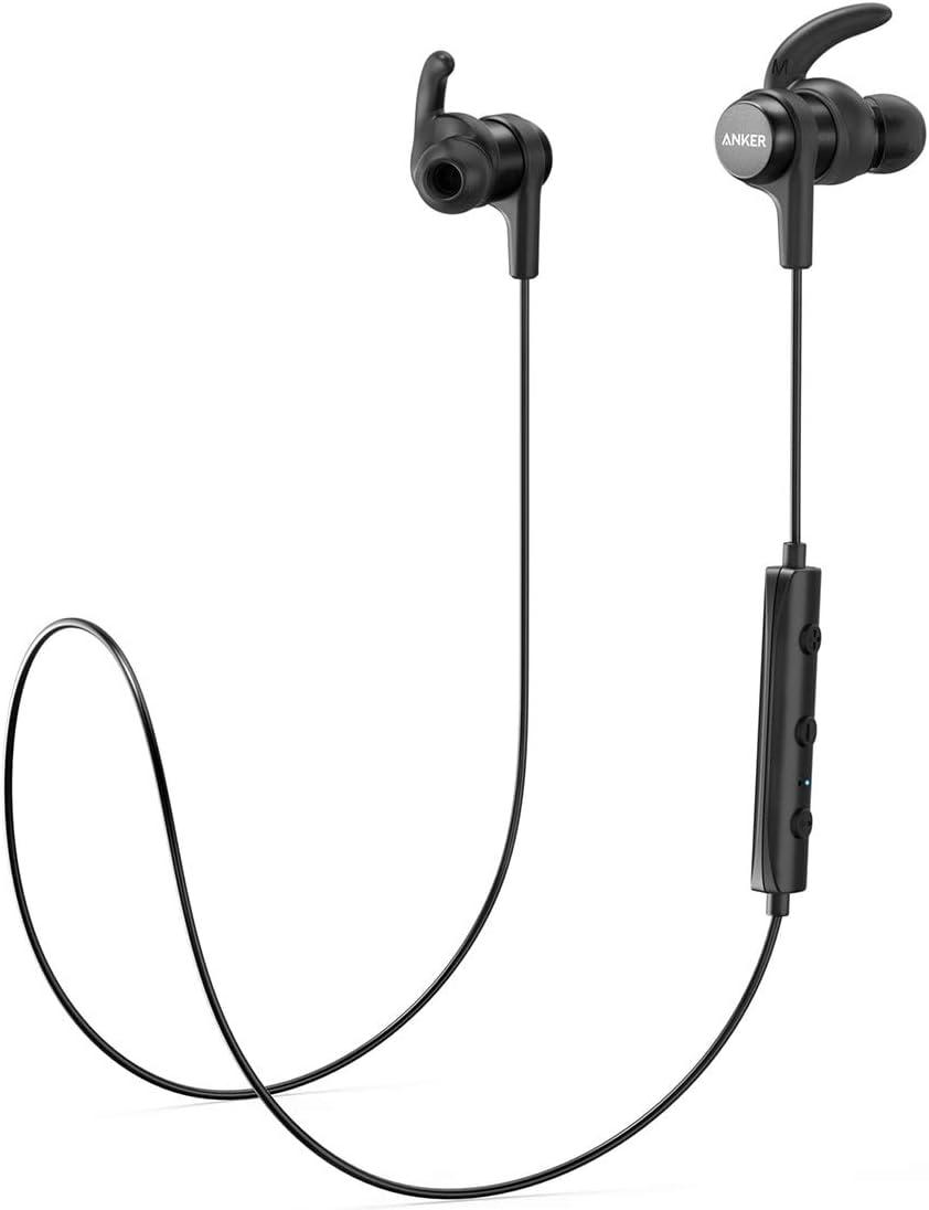 Anker SoundBuds Flow - Auriculares in-Ear con Bluetooth 5.0, Clase de protección IPX7 contra el Agua, 12 Horas de Tiempo de reproducción