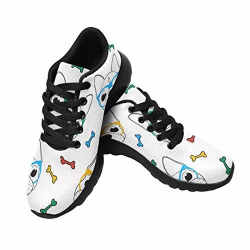 D-story Jogging Running Sneaker Gafas De Sol Lindas Pug Mujeres Casual Comfort Deportes Calzado De Running Negro