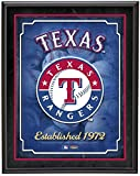 "Texas Rangers Team Logo Sublimated 10.5"" x 13"" Plaque - Fanatics Authentic Certified - MLB Team Plaques and Collages"