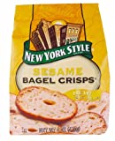 New York Style Sesame Bagel Chips, 7.2 Ounce - 12 per case.