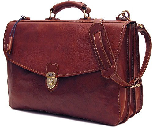 Floto Italian Leather Messenger Bag Briefcase - 9