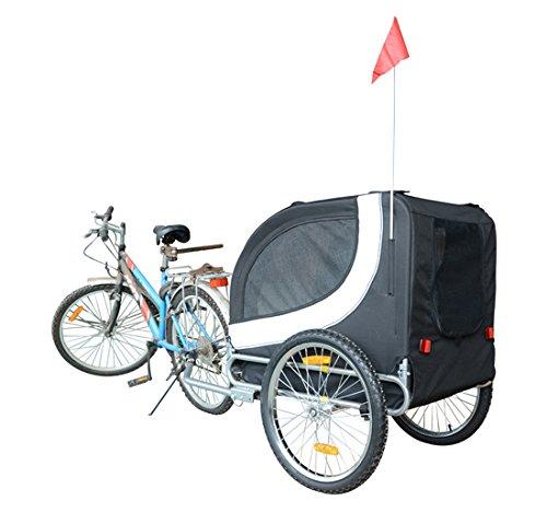 MDOG2 MK0001 Comfy Pet Bike Trailer, White/Black