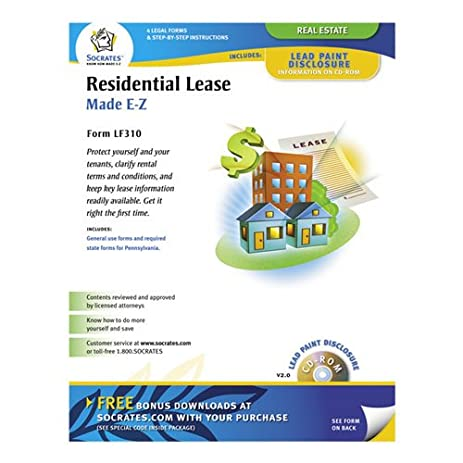 Amazoncom SOMLF Socrates Residential Lease Forms Legal - Socrates legal forms