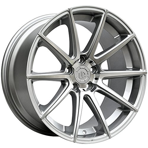 19″ UP100 Staggered 5×114.3 Wheel Set in Silver Machined Face 19×8.5 and 19×9.5 +35 +40 fits JDM Vehicles UP Wheels Rims by Ultimate Performance Wheels