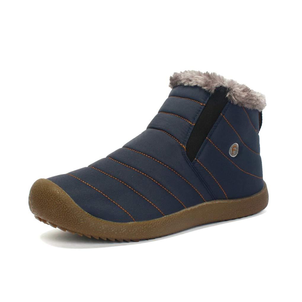 Starttwin Herren Winter Schnee Stiefel Plüsch innen Rutschfeste Unterseite halten warme Skischuhe