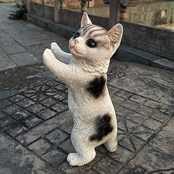 Escultura Figuras Estatuas Decoracion Cachorro Perro Gato Decoración Simulación Lindo Festival De Primavera Decoración del Hogar