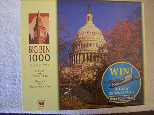 Big Ben U.S. Capitol Building Washington D.C. 1000 Piece Puzzle by Milton Bradley - Washington Dc Capitol Building