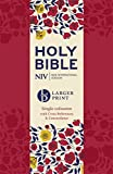 NIV Larger Print Compact Single Column Reference Bible: Red Soft-tone