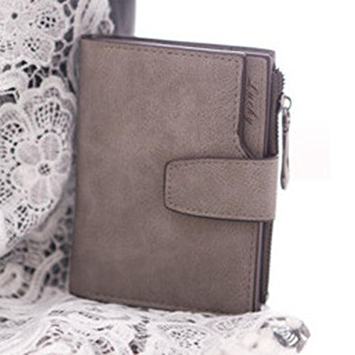 LUNIWEI Women Eco Leather Frosted Solid Zipper Purse Handbag Card Holder Insert-Organizer - Event Wizards Finder