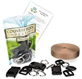 Country Brook Design - 3/4 Inch Deluxe Dog Collar Kit with Copper Gold Nylon Webbing