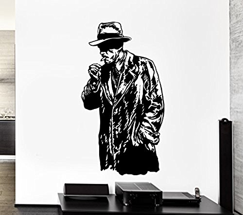 Andre Shop® Wall Stickers Vinyl Decal Retro Mafia Guy Smoking Cigar Cool (Choice Little Cigars)
