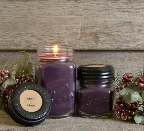 The Barn Candle Company Eco Friendly, Hand Poured, Soy Blend Wax Sugar Plum 16 Oz. Candle