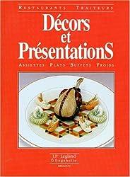 DECORS ET PRESENTATIONS. : Assiettes, plats, buffets froids