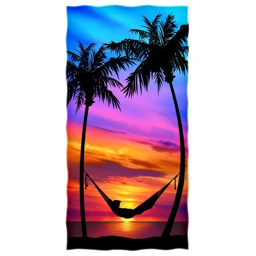 Palm Tree Sunset Beach//shower Towel by Dawhud Direct DHD-439
