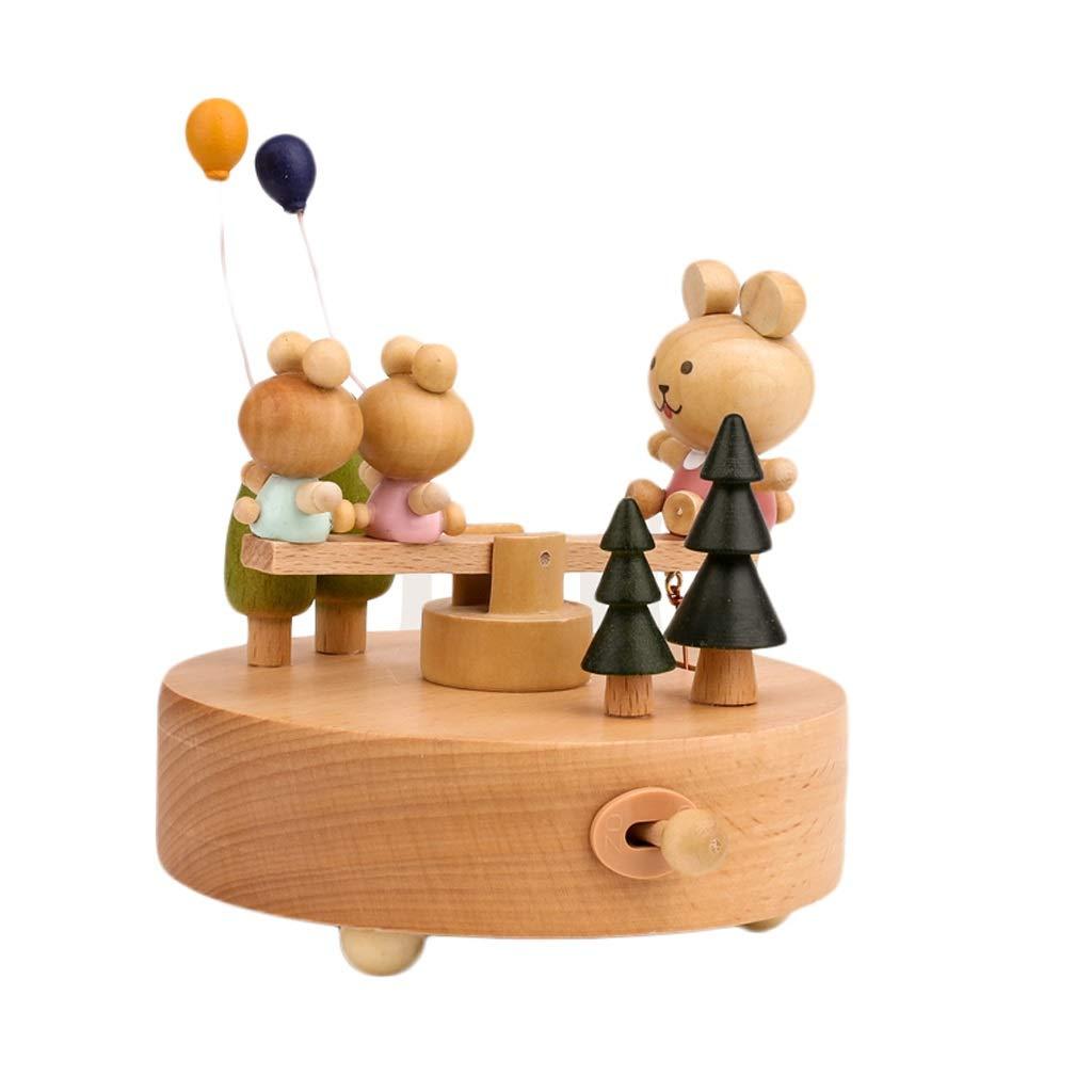 barato en línea B Caja De Musica Musica Musica De Madera Caja de música, Caja de música Decorativa de Madera Tallada a uomoo Simple Regalo de San Valentín para cumpleaños de niños (Color   C)  punto de venta