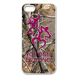 Pop browning deer antlers logo bucks and doe yolo camo design Case For Iphone 5/5S Cover hard plastic case