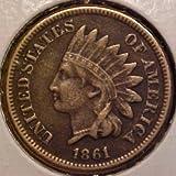 1861 Indian Head Penny ~~ Grades Fine+