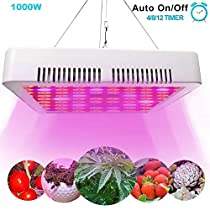 PAQI 1000W LED Grow Light Full Spectrum for Indoor Plants Veg and Greenhouse Plants