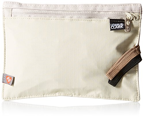 Collection Travel Wallet (Lewis N. Clark RFID-Blocking Hidden Travel Belt Wallet, Tan, One Size)