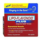 LIPO-FLAVONOID Plus Ear Health Dietary Supplement Caplets 100 CP - Buy Packs and SAVE (Pack of 3)