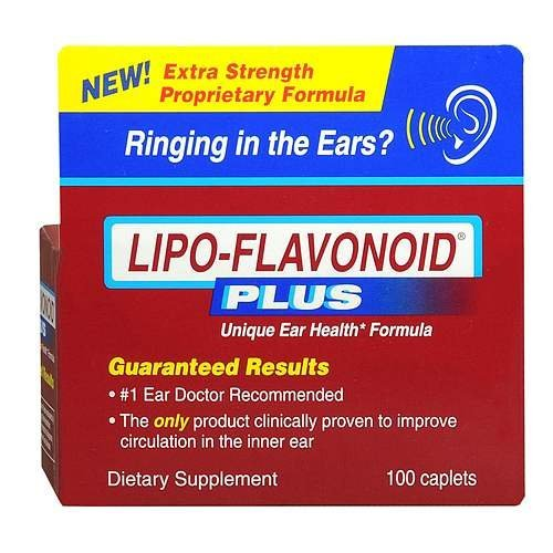 LIPO-FLAVONOID Plus Ear Health Dietary Supplement Caplets 100 CP - Buy Packs and SAVE (Pack of 4)