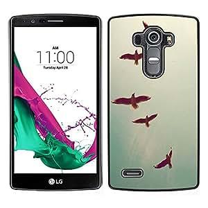 LG G4 / H815 H812 H810 H811 LS991 VS986 US991 Único Patrón Plástico Duro Fundas Cover Cubre Hard Case Cover - Birds Sky Teal Freedom Deep Vignette