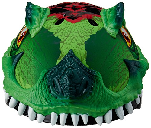 Raskullz 2015 Boy's T-Rex Awesome 5+ Kids/Youth Bicycle Helmet (Green - 50-54cm)