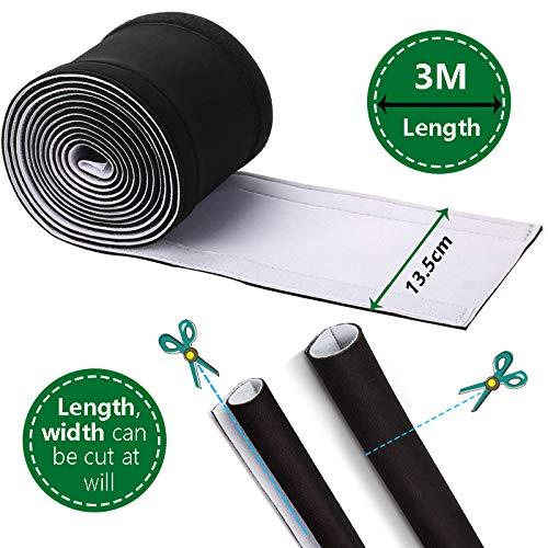 C/âble Organisateur 3Meter C/âble Rangement du N/éopr/ène Imperm/éable Organisateur et Protecteur de C/âbles 100 cm x 13.5 cm Noir Blanc