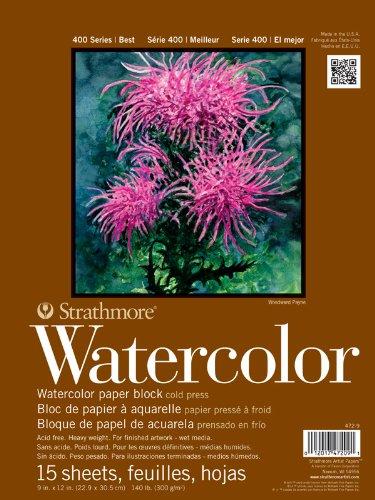Strathmore STR-472-9 15 Block Watercolor, 9 by - Watercolor Block
