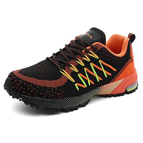 Sport Loisirs Extérieur Respirant Chaussure Qzbeita Sneaker Pour Homme Orange