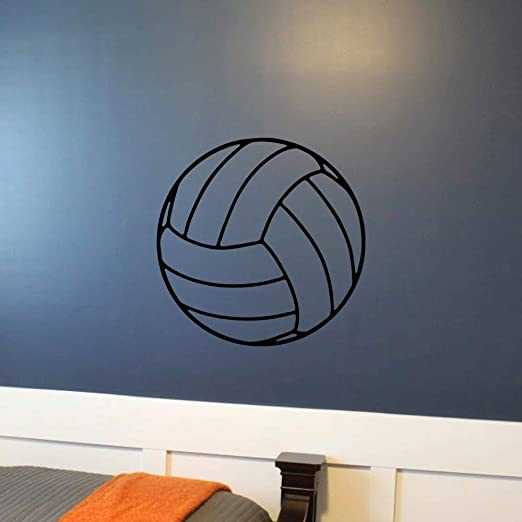 ONETOTOP Adhesivo de Voleibol Tatuajes de Pared Sala de Juegos ...