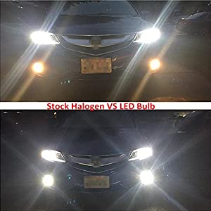 Alla Lighting H10 9145 9140 High Power 50W CREE Extremely Bright 6000K Xenon White LED Lights Bulbs for Car Truck Fog Lights Lamps Replacement