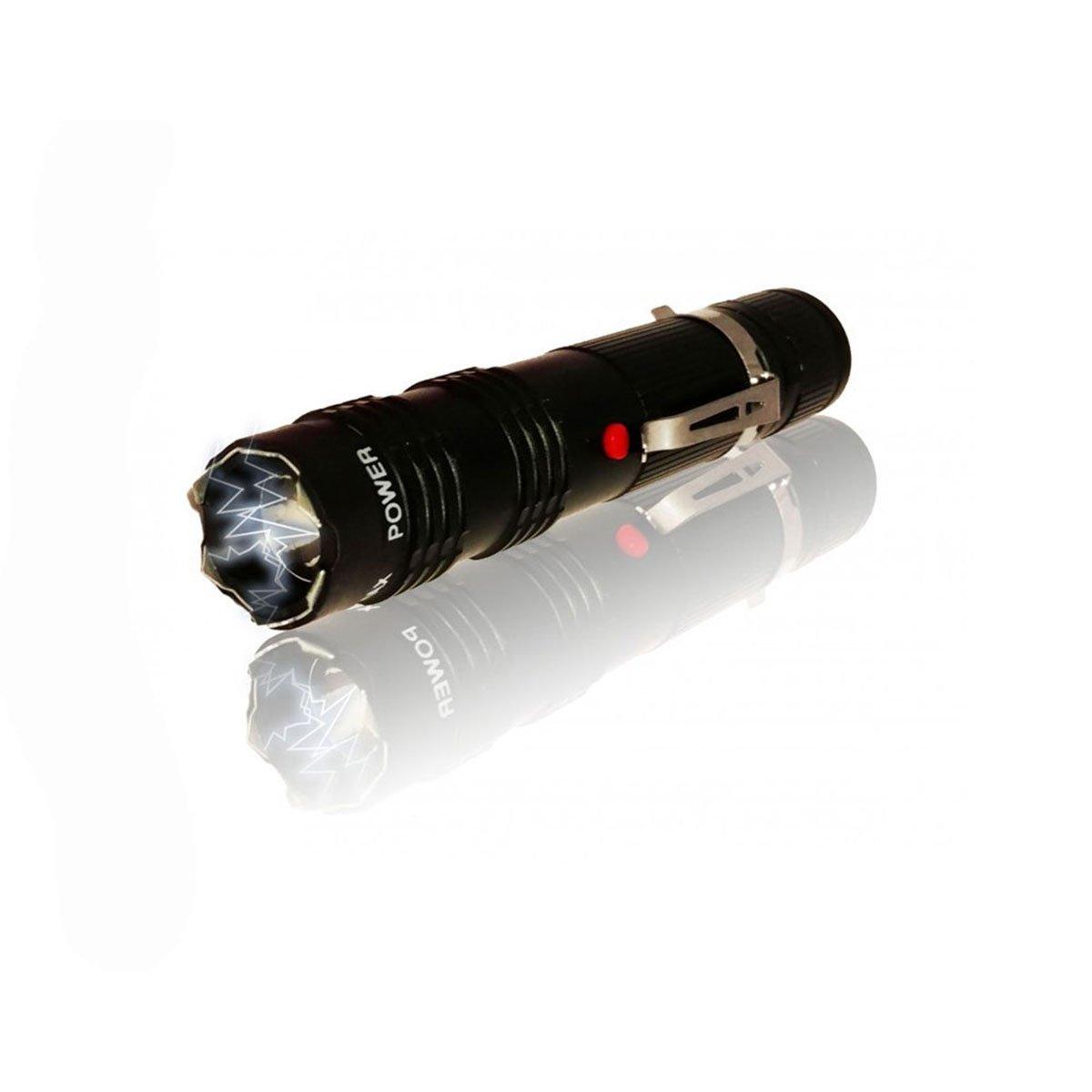 ALPHA FORCE Stun Gun - EL17- 250,000 Police Tactical LED Flashlight Quadruple Shock Prongs (Black)