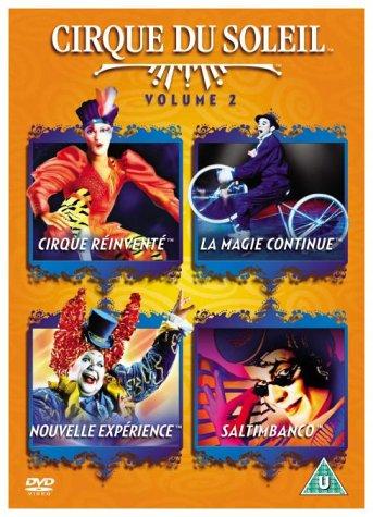 Cirque du Soleil Volume 2 4-DVD Set ( We Reinvent the Circus / La Magie continue / A New Experience / Saltimbanco ) ( Cirque Reinvente / La Magie continue / Nouvelle expérience / S [ NON-USA FORMAT, PAL, Reg.2 Import - United Kingdom ] Cirque Du Soleil 2009