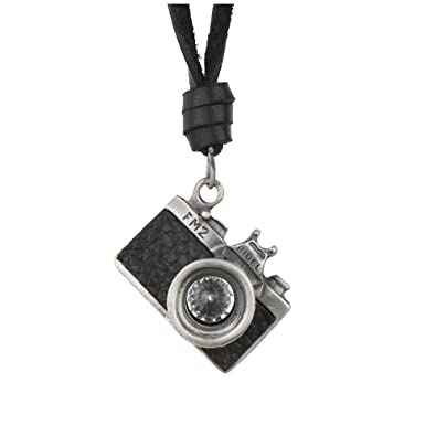 3e0588210e6ef Unisex Camera Pendant Necklace Genuine Leather Adjustable Chain Cord  Necklace Handmade Black and Brown Leather Couple necklace