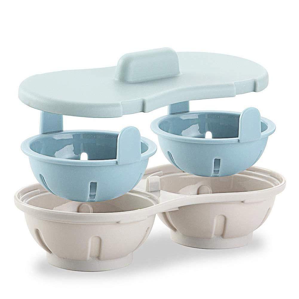 Escalfadores De Huevos 2 Capa Egg Poacher, Cocina De Huevos Microondas, Apta para Microondas Escalfador De Huevos, Utensilios De Cocina Sin BPA para ...