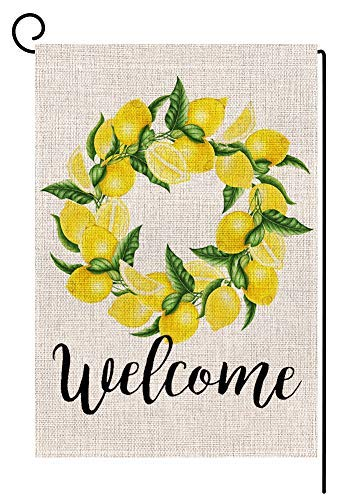 Amazon Com Purseroom Custom Garden Flags Welcome Lemon Wreath
