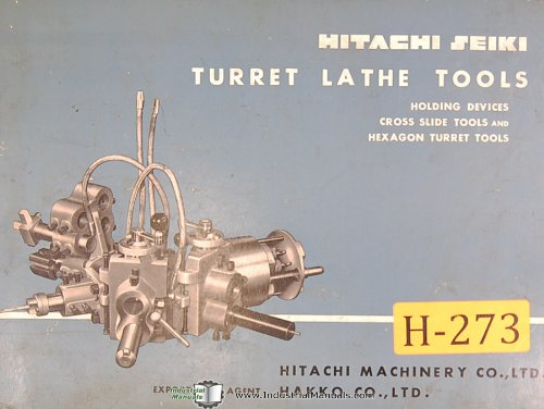 (Hitachi Seiki Turret Lathe Tools Manual)