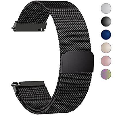 Quick Release Milanese Loop, Fullmosa Milanese Magnetic Closure Stainless Steel Watch Band Replacement Strap for 18mm 20mm 22mm 23mm 24mm