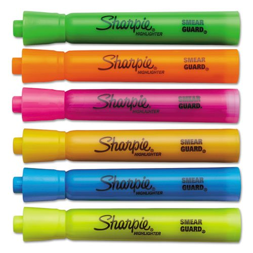Sharpie Accent Tank-Style Highlighters, 6 Colored Highlighters (25076),Case of 72 by Sharpie