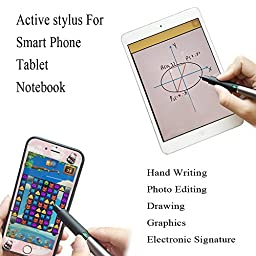 Active Stylus,1.9mm Rotating Fine Tip Pen for iPad,iPhone,Samsung,Kindle,IOS/Android/Windows Phones & Tablets
