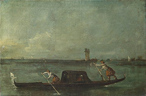 [High Quality Polyster Canvas ,the Replica Art DecorativeCanvas Prints Of Oil Painting 'Francesco Guardi A Gondola On The Lagoon Near Mestre ', 8 X 12 Inch / 20 X 31 Cm Is Best For Nursery Decor And Home Gallery Art And] (Cobra Kai Costume Large)