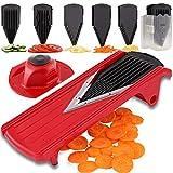Geedel V-Pro Mandoline Slicer, Adjustable Food/Vegetable Slicer With Interchangeable Blades and Blades Container, Julienne Slicer Grater for All Fruit and Veggies