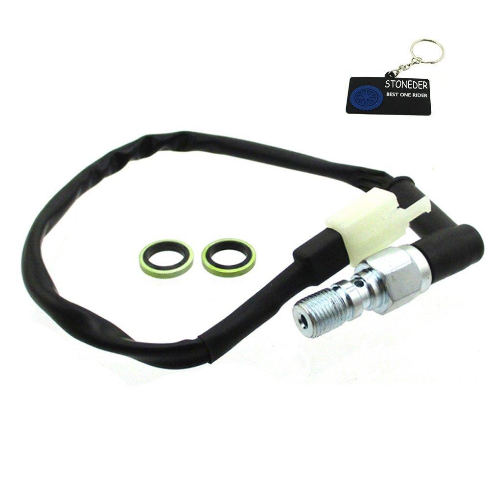 STONEDER Male Plug Moto hydraulique de Frein Interrupteur Banjo Bolt 10 x 1, 0 mm 0mm