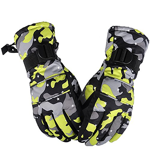 Buytop Waterproof Ski Snowboard Gloves for Men Women & Kids Thinsulate Winter Insulated Motorcycle Snowmobile Warm Gloves