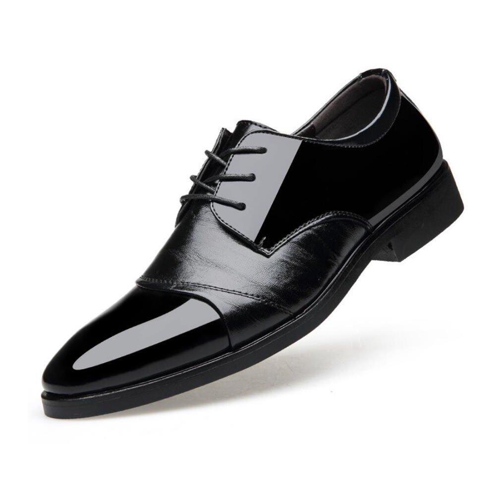 CAI Herren Formale Schuhe 2018 New Business Herren Lederschuhe/Kleid Schuhe/Spitzen Laceup/Hochzeit Schuhe/Office Work Schuhe (Farbe : Schwarz  Größe : 44) Schwarz