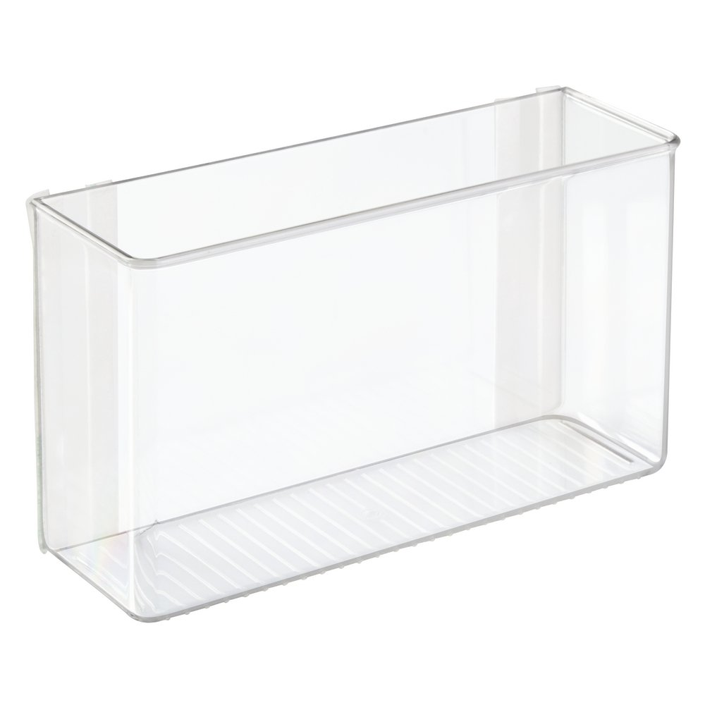 InterDesign Large Affixx Peel and Stick Adhesive Kitchen Organizer Strong Hold, Clear 66140